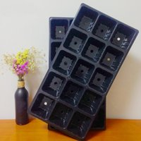 Wholesale garden potting tray - PVC Plastic Seeds Growing Tray Not Easy To Deform Garden Nursery Pots Thicken Eco Friendly Seedling Plate Black 1 7hh B