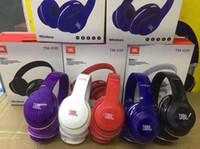jeu de casque bluetooth achat en gros de-Sup jeu casque écouteurs stéréo Bluetooth Casques écouteurs avec micro soutien écouteurs carte TF pour iPhone Samsung