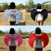 ingrosso manuale della farfalla-Ali di piume di angelo per il costume di natale del capretto Costume di stile di farfalla di cosplay Prop manuale puro creativo di moda per bambini Piumaggio 55gl3 Y