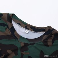 Wholesale Outdoor Running Clothes - Outdoor sports tights fitness clothes men short - sleeved camouflage clothing sweat sweat dry running basketball T - shirt