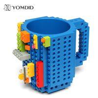 Wholesale Diy Building Blocks - Build -On Brick Mug Diy Bulding Blocks Coffee Mugs 350 Ml Creative Drinkware Bpa Free Mug Birthday Gifts Tazas