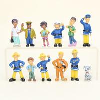 pvc 12 pcs venda por atacado-2 .5-6 cm 12 pçs / set fireman sam bonito dos desenhos animados pvc figura de ação toys dolls para crianças presente de natal