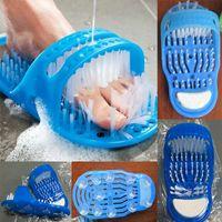 neue fußpantoffeln großhandel-Neue Einfache Füße Bad Massage Hausschuhe Reinigen Entfernen Abgestorbene Haut Pinsel Bad Fußpflege Reiniger Füße Massage Schuh WX-T12