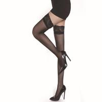 sexy paar strümpfe großhandel-Schlussverkauf! 2 Paare / satz Sexy Stylist Mode Damen Frauen Spitze Top Bleiben Oberschenkel Hohe Strümpfe Sommer Nachtclubs Produkte
