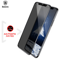 kristallklare schirmschutz galaxie großhandel-Baseus Displayschutzfolie für iPhone X 10 Privacy Anti Peeping gehärtetes Glas 3D Blendschutzfilm für iPhoneX 0.23mm gehärtetes Glas