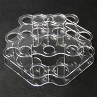 ingrosso cremagliera di succo-Vetrina acrilica trasparente supporto per mensola vape rack vetrina per 21 pezzi 30 ml 60 ml bottiglie di vetro in plastica e liquido e bottiglia di succo DHL