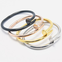Wholesale loved cuff bracelet - Top quality stainless Steel carter Love nail Bracelet For Women Men bracelets & bangles cuff Bangle Pulseira feminina jewelry