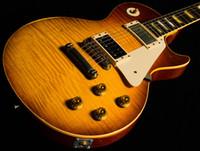 custom shop guitare électrique âgé achat en gros de-Custom Shop 1959 Led Zeppelin Jimmy Page # 7 Tom Murphy guitare électrique âgée et signée avec 21 notes