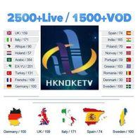Wholesale HKNOKETV Europe Sweden Iptv Subscription Watch Italy Turkey UK Portuagl Romania European Channels Work On Android Box smart tv E2 M3U