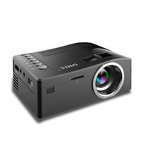 jugador de varios juegos al por mayor-2018 Nuevo Original Unic UC18 Mini LED Proyector Portátil Proyectores de bolsillo Reproductor multimedia Juego de cine en casa Compatible con HDMI USB