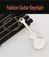 musikinstrumente klingelt großhandel-Music Festival Musikinstrument Schlüsselanhänger Kreative Gitarre Schlüsselanhänger Anhänger Geschenk für Tasche Modeschmuck Zubehör Schlüsselanhänger Ring H845R