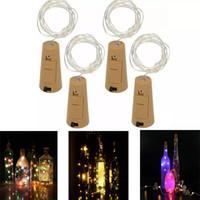 bouchons de liège achat en gros de-1 M 10 LED 2 M 20 LED Lampe En Laiton En Forme de Bouteille Bouchon Lumière Verre Vin LED Cuivre Fil Cordes Lumières Pour La Fête De Noël De Mariage Halloween