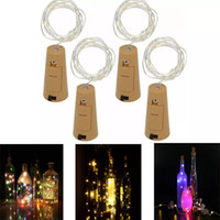 Wholesale flashing christmas glasses resale online - 1M LED M LED Lamp Cork Shaped Bottle Stopper Light Glass Wine LED Copper Wire Strings Lights For Xmas Party Wedding Halloween