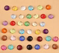 roupa das crianças frete grátis venda por atacado-Nova cor misturada cor transparente botões de cristal de plástico costura tecido diy acessórios de roupas de criança presentes frete grátis