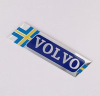 Wholesale Flag Car Decals - Volvo Sweden Flag Car Styling Metal Emblem Car Sticker 3D Decals Creative Mark Badge Auto Stickers flag fit for Volvo S9 XC60