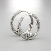aros de encanto de ley al por mayor-Compatible con Pandora jewelry 925 Sterling Silver Bird Hoop Earrings para mujer original pendiente de moda encantos joyería
