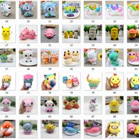 Wholesale new squishies - lot Kawaii Squishies Slow Rising Squishies Cartoon PU Simulation Durable Soft Scented Relief toy Straps Squishy novelty decompression toys