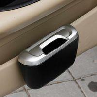 Wholesale mini trash cans - Mini Auto Car vehicle Trash Rubbish Can Garbage Dust Case Holder Box