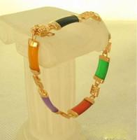 Wholesale 2018 Fashion Women k Gold Plated Bracelet Jade Bangle Jewelry Ladies New Gifts