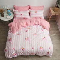 розовые серые наборы постельных принадлежностей оптовых-Bedroom 3/4pcs King Size Bedding Sets Duvet Cover Sets Pillowcases Flat sheet Dropshipping Children's gifts Pink Leopard