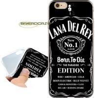ingrosso caso di iphone 5c del silicone nero-Custodie a conchiglia Coque Black Lana Del Rey per iPhone 10 X 7 8 6S 6 Plus 5S 5 SE 5C 4S 4 iPod Touch 6 5 Cover in silicone TPU trasparente.