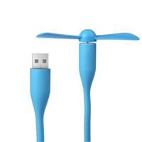 mini ventas de portátiles al por mayor-Venta caliente Cable Mini USB Ventilador flexible para todos los gadgets de la fuente de alimentación por Smartphone Refrigerador portátil para Andriod iPhone Mucti-function fan
