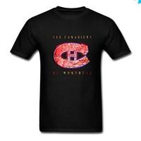 camisa montreal al por mayor-Manga corta Tops SiMaxq Show Time Increíble Les Canadiens Icon Be Montreal Camisetas de manga corta para hombres Camiseta Hombre Loose Size