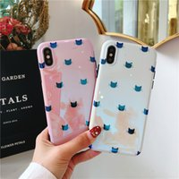 Wholesale cute korean iphone cases - New Arrive Cute kitty Korean Style Fashion Blu-ray Soft Cover TPU Phone Cases For iPhone X 8 7 6 Plus