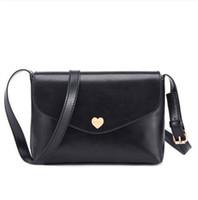kuriertasche über großhandel-Mode Tasche Schulter geneigt über Mode weibliche Paket Pfirsich Herz kleine Frauen Messenger Bags ziemlich Stil