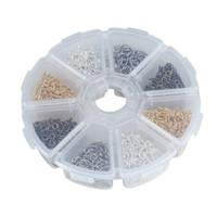 mücevherat yapımı toptan satış-800 adet / kutu 4x10mm Küçük Koyun Vida Gözler Tırnak Pins Kefalet Yüzük Kanca Takı Bulguları Için DIY Boncuklu Kolye Yapma Aksesuarları G377S