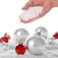 ingrosso le decorazioni false della neve-20 pezzi FAI DA TE Decorazione della festa di nozze di Natale Inverno finto Polvere istantanea Super Magic polvere artificiale simulazione neve