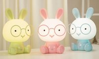 Wholesale red country lamp resale online - rabbit led book lights student lamp usb charging folding work reading lamps bed children s bedside lamp small night lamp eyecare book lights