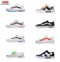 Wholesale fabric wall lights - 2018 Athentic Vans ® Off The Wall WHITE old skool zapatillas de deporte casual DesignerCasual Canvas trainer Sneakers 35-44
