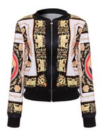 ingrosso giacca bomber donna xl-DARSJUCBD 2018 Sexy Indie Folk Donna Giacca Cappotto Dashiki Africano Stampato Casual Giacca Bomber S M L XL S18101102