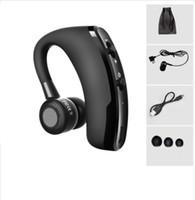 geschäft brombeere großhandel-V9 Freisprecheinrichtung Business Wireless Bluetooth Headset mit Mikrofon Sprachsteuerungskopfhörer für das Laufwerk Mit 2 Telefon verbinden