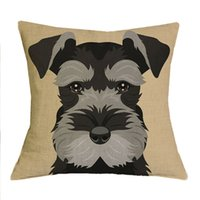 Wholesale dog cushions home for sale - Group buy Square Woven Cushion Cover Christmas Festival Schnauzer X45cm Dog Pillow Cases Pillowcase Bedroom Sofa Decoration