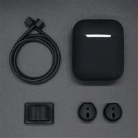 cosses à air achat en gros de-Écouteur protecteur ensemble pour Apple Airpods Portable étui de protection de la sangle en silicone pour pods casque accessoires fournitures