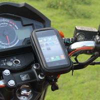 держатель для телефона велосипед велосипед оптовых-Велосипед мотоцикл Держатель телефона телефон поддержка Moto стенд сумка для Iphone X 8 Plus SE S9 GPS велосипед держатель водонепроницаемый чехол
