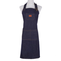 ingrosso grembiuli da cucina per gli uomini-Hot Kitchen Denim Grembiule da lavoro Unisex Per Cucinare Grembiule Per Donna Uomo Cowboy Antivegetativa Chef Cooking Pinafore Delantal Tablier