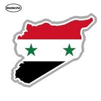 Wholesale 3d wall words sticker resale online - Vinyl Decals Car Stickers Glass Stickers Scratches Stickers Wall Die Cut Bumper Accessories Jdm D Syria Map Silhouette Flag