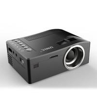 mini-multimediaprojektor usb großhandel-Ursprüngliche Unic UC18 Mini-LED-Projektor tragbare Taschenprojektoren Multimedia-Player Heimkino-Spiel unterstützt HDMI USB TF-Beamer