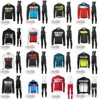 Wholesale scott long sleeve bike - 2018 SCOTT winter thermal fleece cycling clothes long sleeve men cycling jersey suit mountain bike clothing mtb bicycle sportswear F2725