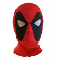 Wholesale Restraint Hood - cloth Dual Ninja headgear Face Head Bondage Devil Hood with Open Mouth Eyes Mask Sensual Restraint Play Halloween Costume