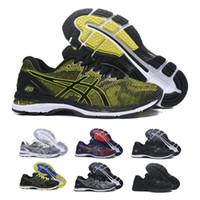 zapatos negros en línea al por mayor-2019 Asics GEL-Nimbus 20 Hombres Amortiguadores Zapatillas de deporte de calidad superior en línea Negro Azul Zapatillas deportivas Zapatillas de diseñador 7-11