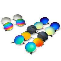 Wholesale prince frames - Round sunglasses trend Metal Frame Sunglasses Men Women Retro Classic Prince Mirror Circle Round Sunglasses Muti-Colors Optional