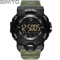 ingrosso cronometro elettronico digitale-X GIMTO Cool Outdoor Sport Smart Watch Uomo Digital LED Cronometro Bluetooth Shock Army orologio elettronico Orologio pedometro impermeabile