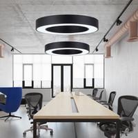 современное оформление домашнего офиса оптовых-40 60 80 см простые современные светодиодные подвесные светильники круглый круг подвеска подвесная лампа офис украшения дома лампа кольцо люстра