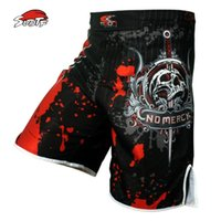 esqueleto pantalones hombres al por mayor-Suotf Men Skeleton Skull Cool Printing Head Wrestling Pants Muay Thai Boxing Shorts Shorts de boxeo Cheap Mma Shorts Muay Thai