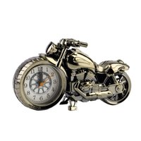 Wholesale Motorcycle Battery Wholesale - Wholesale- Drop Shipping Motorcycle Motorbike Pattern Alarm Clock Watch Creative Home Birthday Gift Promotion
