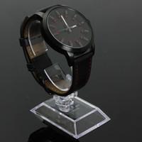 магазин часов оптовых-YCYS-1ps Прозрачный акриловый браслет часы держатель стойки дисплея стойки розничный магазин витрина высшего качества